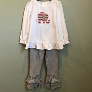 Girls Southern Tots top with leggings
